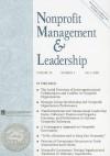 Nonprofit Management & Leadership, Volume 20, Number 1 - Charles M. Gray, Kathleen Mills, Lisa R. Berlinger
