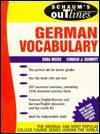 Schaum's Outline of German Vocabulary - Edda Weiss, Conrad J. Schmitt