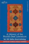 A Library of the World's Best Literature - Ancient and Modern - Vol. XVI (Forty-Five Volumes); Gellius-Greek Anthology - Charles Dudley Warner