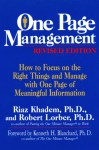 One Page Management - Riaz Khadem, Robert Lorber