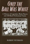 Only the Ball Was White: A History of Legendary Black Players and All-Black Professional Teams - Robert W. Peterson