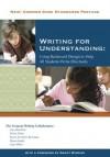 Writing for Understanding - The Vermont Writing Collaborative, Joey Hawkins, Eloise Ginty, Karen LeClaire Kurzman, Diana Leddy, Jane Miller, Grant Wiggins, Denise Wilbur