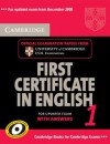 Cambridge First Certificate in English 1 for Updated Exam with Answers Self Study Pack: Official Examination Papers from University of Cambridge ESOL - Cambridge ESOL