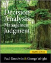 Decision Analysis for Management Judgment - Paul Goodwin, George Wright