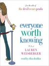 Everyone Worth Knowing (Audio) - Lauren Weisberger, Eliza Dushku