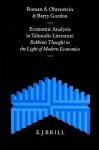 Economic Analysis in Talmudic Literature: Rabbinic Thought in the Light of Modern Economics - Roman A. Ohrenstein, David S. Katz