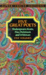Five Great Poets: Poems by Shakespeare, Keats, Poe, Dickinson and Whitman-Boxed Set - Dover Publications Inc.