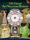 60 Great Art Nouveau Posters Platinum DVD and Book - Carol Belanger Grafton