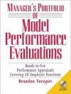 Manager's Portfolio of Model Performance Evaluations with CD-ROM - Brandon Yusuf Toropov, Tom Power