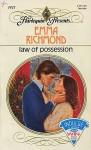 Law of Possession - Emma Richmond
