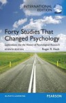 Forty Studies That Changed Psychology - Roger R. Hock