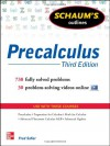 Schaum's Outline of Precalculus, 3rd Edition: 738 Solved Problems + 30 Videos (Schaum's Outline Series) - Fred Safier