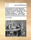 Hocus pocus: or, a rich cabinet of legerdemain curiosities, natural and artificial conclusions. Shewing 1. How to cleave money. ... 19. To make excellent plaistering ... Adorn'd with above 40 curious cuts. By J. White, ... - John White