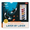 Acrylic Painting Kit Layer by Layer: In the Company of Orcas: This unique method of instruction isolates each layer of the painting, ensuring successful results. - Wyland