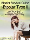 Bipolar 2: Bipolar Survival Guide For Bipolar Type II: Are You At Risk? 9 Simple Tips To Deal With Bipolar Type II Today - Heather Rose