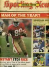 Sporting News January 4 1988 Jerry Rice/San Franciso 49ers Cover, Oklahoma Sooners, Miami Hurricanes, Syracuse Orangemen, USC Trojans, Florida State Seminoles, Ned Bolcar/Notre Dame - Sporting News