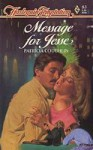Message for Jesse (Harlequin Temptation, #83) - Patricia Coughlin