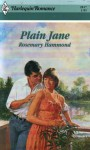 Plain Jane (Harlequin Romance #2817) - Rosemary Hammond