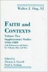 Faith And Contexts - Walter J. Ong