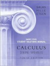 Calculus Student Solutions Manual: Several Variables - Satunino L. Salas, Einar Hille, Garret J. Etgen
