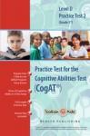 Cognitive Abilities Test CogAT® Multilevel D Book (Grade 5*) - Practice Test 2 - Mercer Publishing
