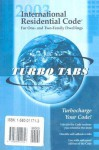 International Residential Code 2003 Tabs: Tabs for Softbound Version - International Code Council
