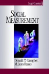 Social Measurement - Donald T. Campbell, M. Jean Russo