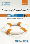 Q & A Law of Contract 2009 and 2010 (Questions & Answers) - Adrian Chandler, Ian Brown