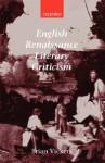 English Renaissance Literary Criticism - Brian Vickers