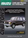 Isuzu: Cars and Trucks 1981-91 - Chilton Automotive Books, Chilton Automotive Books