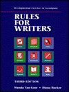 Rules for Writing: Development Exercises - Diana Hacker