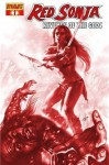"Red Sonja Revenge of the Gods #1 ""Parrillo Blood Red Variant"" - lieberman"