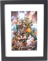 "THOR, LOKI, ENCHANTRESS, INVISIBLE WOMAN ~ 8"" X 12"" ART PRINT (FRAMED at 12"" X 16"" w/MATTE) by J. SCOTT CAMPBELL (MARVELous Art) (MARVELous Art) - J. Scott Campbell, J. Scott Campbell"