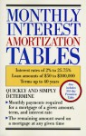 Monthly Interest Amortization Tables: Interest Rates of 2% to 25.75%, Loan Amounts of $50 to $300,000, Terms Up to 40 Years - Contemporary Books, Inc.