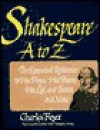 Shakespeare A to Z: The Essential Reference to His Plays, His Poems, His Life and Times, and More - Charles Boyce, David Allen White