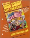 High Court Case Summaries on Constitutional Law (Keyed to Chemerinsky) - Dana Blatt