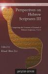 Perspectives on Hebrew Scriptures III - Ehud Ben Zvi