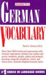 German Vocabulary - Paul G. Graves