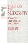 Poetics Of Modernity: Toward A Hermeneutic Imagination - Richard Kearney