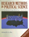 Research Methods in Political Science: An Introduction Using MicroCase ExplorIt - Michael K. Le Roy, Michael Corbett