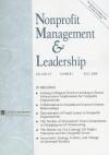 Nonprofit Management & Leadership, Volume 19, Number 1 - Roger A. Lohmann, Kathleen Mills, Avner Ben-Ner