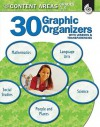 30 Graphic Organizers for the Content Areas, Grades 3-5: With Lessons & Transparencies - Wendy Conklin