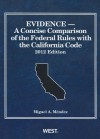 Evidence - A Concise Comparison of the Federal Rules with the California Code - Miguel A. Mendez