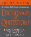 The MacMillan Dictionary of Quotations - David Prebenna