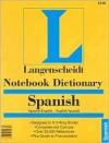 Notebook Spanish Dictionary - Langenscheidt