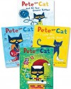 Pete the Cat Paperback Book Set: Includes 4 Books: • I Love My White Shoes • Pete the Cat and His Four Groovy Buttons • Pete the Cat Saves Christmas • Rocking in My School Shoes - Eric Litwin, James Dean