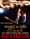 What A Girl Wants (Rock Stars in Disguise: Rhiannon) A New Adult Rock Star Romance - Blair Babylon