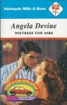 Mistress for Hire - Angela Devine
