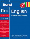 Bond English Assessment Papers 11+-12+ years Book 2 - Sarah Lindsay