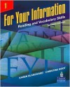 For Your Information 1: Reading and Vocabulary Skills - Karen Blanchard